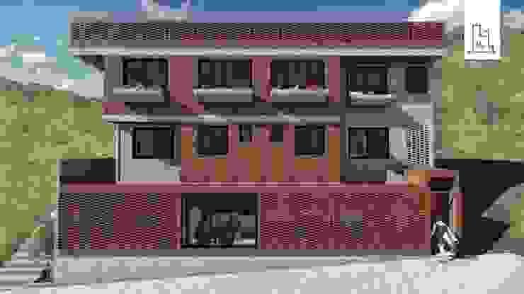Construcción de una vivienda - Fachada de Minkarq. Arquitectura y construcción Industrial Ladrillos