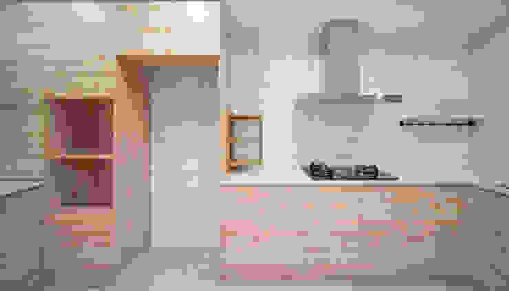老屋翻新 巷‧日閣 | 1F廚房:  廚房 by 有隅空間規劃所,