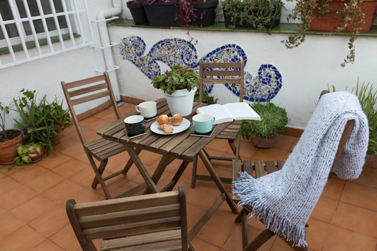 Eclectic style balcony, porch & terrace by KELE voy a hacer Eclectic