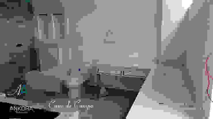 baño Baños de estilo moderno de ANKORA ARQUITECTOS Moderno Concreto