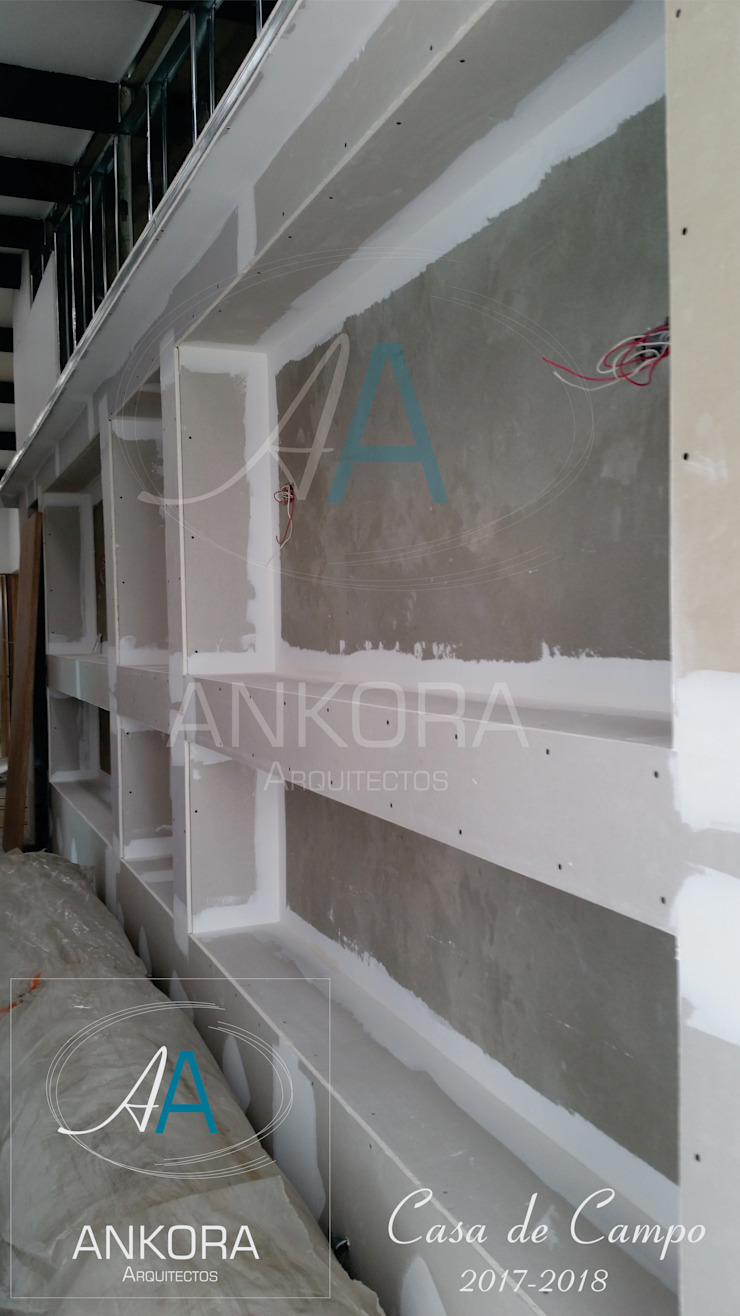 diseño interior Paredes y pisos de estilo moderno de ANKORA ARQUITECTOS Moderno Tablero DM