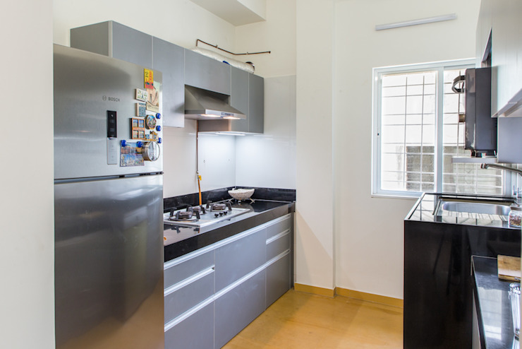 Kitchen - cooking counter Modern Kitchen by M+P Architects Collaborative Modern