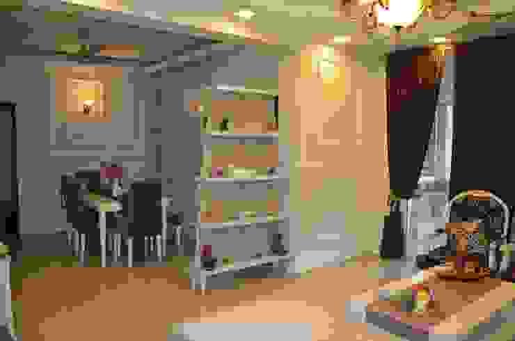 Eldeco—704, Indrapuram Asian style corridor, hallway & stairs by Neun Designs Pvt.Ltd. Asian