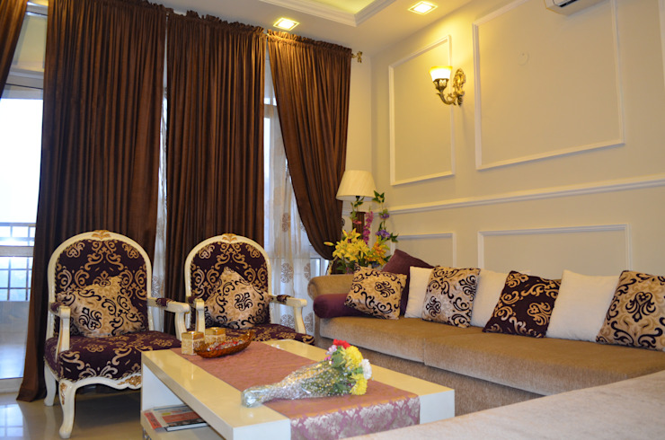 Living room by Neun Designs Pvt.Ltd.