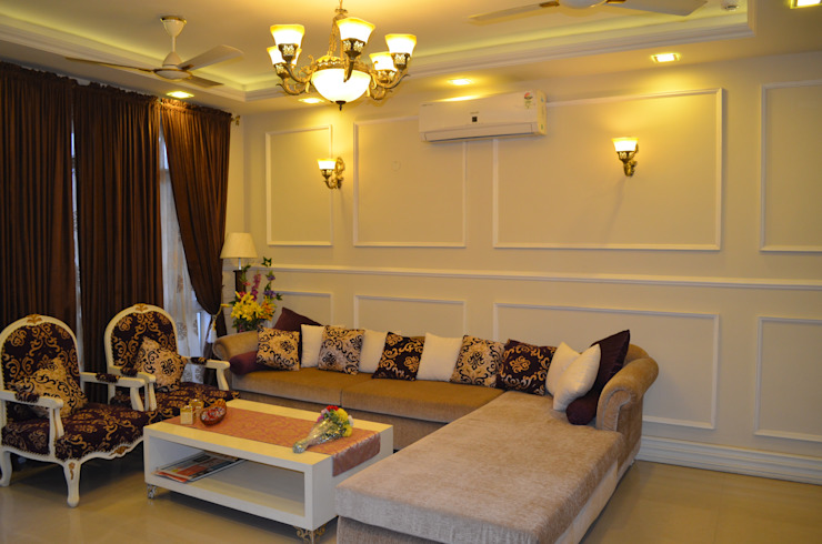 Eldeco—704, Indrapuram Asian style living room by Neun Designs Pvt.Ltd. Asian