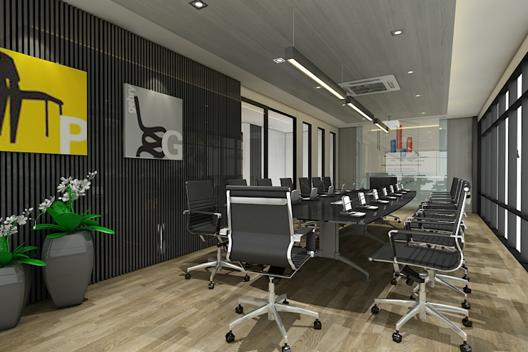 ออกแบบตกแต่งสำนักงาน: ทันสมัย  โดย Interior 92 Co.,Ltd., โมเดิร์น แผ่นไม้อัด Plywood