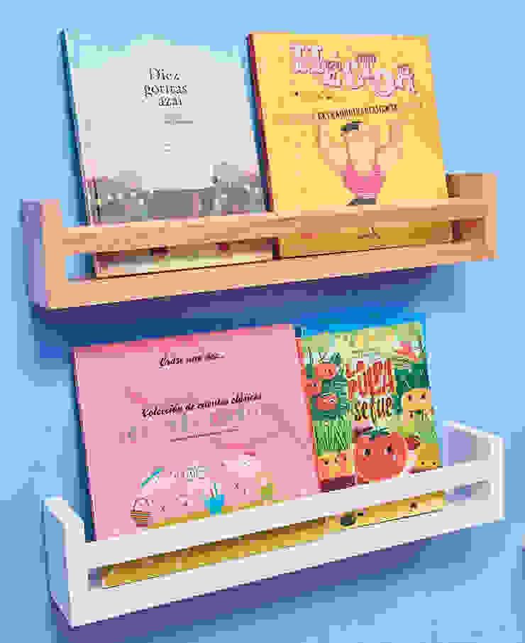 Estantes libreros de Minihaus Kids Escandinavo Madera Acabado en madera