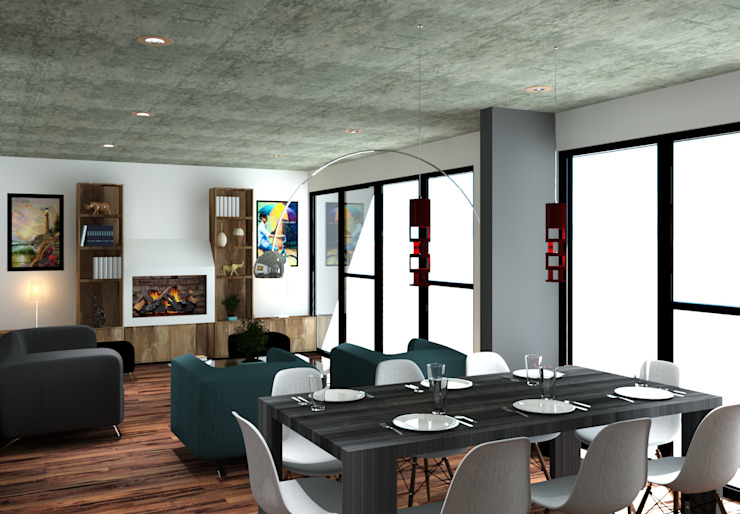 Arq. Rodrigo Culebro Sánchez Modern dining room