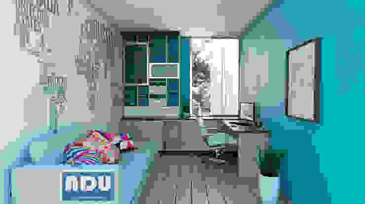 Oficina en Casa Estudios y despachos de estilo moderno de ADU ARQUITECTOS Moderno Madera Acabado en madera