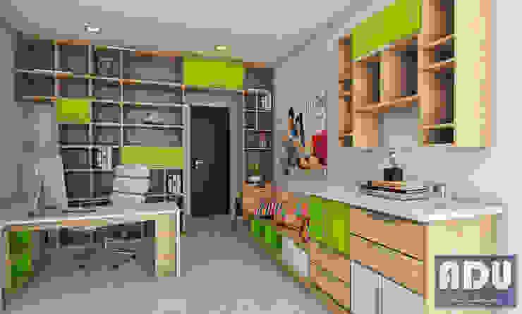 Estudio - Biblioteca Estudios y despachos de estilo moderno de ADU ARQUITECTOS Moderno Madera Acabado en madera
