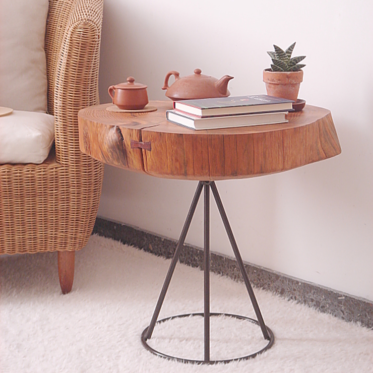 Naturalis Muebles Ecológicos Living roomSide tables & trays Parket Wood effect