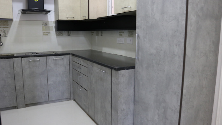 Modular Kitchen by Enrich Interiors & Decors Rustic