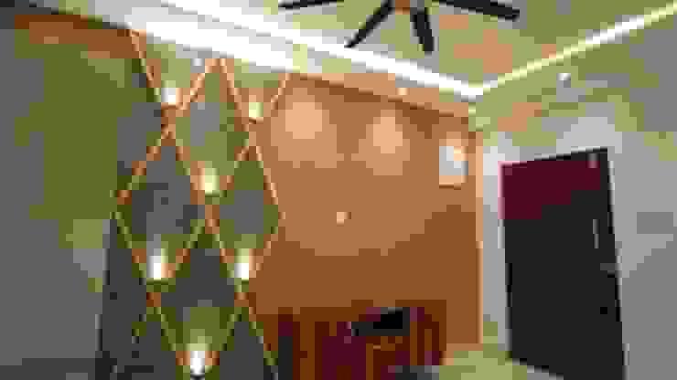 Living Room TV Unit:  Living room by Enrich Interiors & Decors,Rustic