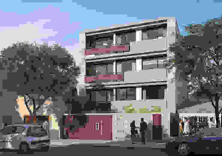 Exterior Edificio Zona Norte de Renders + Arquitectura