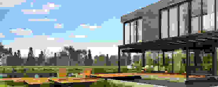 Exterior Casa Zona Norte de Renders + Arquitectura