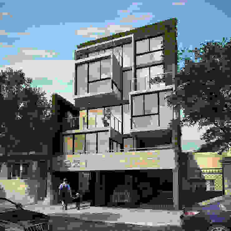 Fachada Edificio Calegiales de Renders + Arquitectura