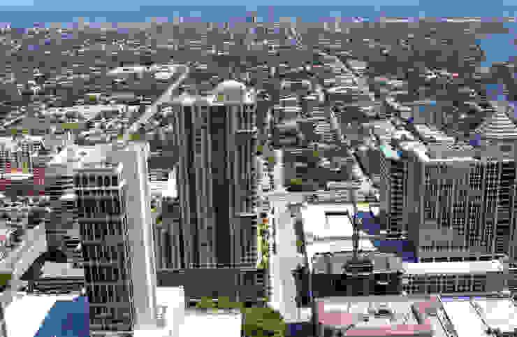 Fotomontaje Miami de Renders + Arquitectura
