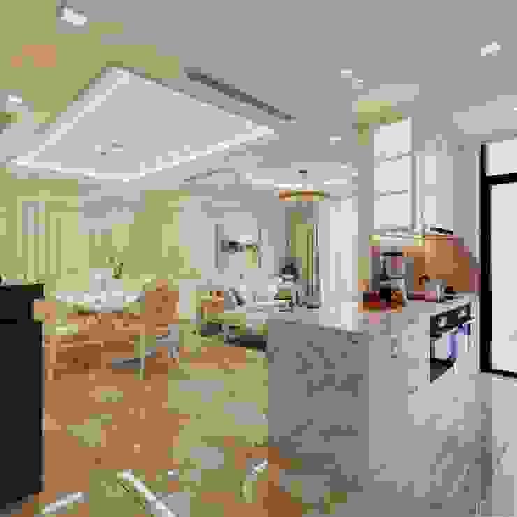 Phong cách Tân Cổ Điển - Ngôi nhà thiết kế sáng tạo, truyền cảm hứng cuộc sống Nhà bếp phong cách kinh điển bởi ICON INTERIOR Kinh điển