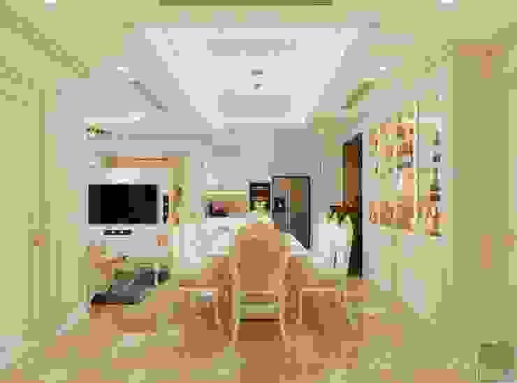 Phong cách Tân Cổ Điển – Ngôi nhà thiết kế sáng tạo, truyền cảm hứng cuộc sống Phòng ăn phong cách kinh điển bởi ICON INTERIOR Kinh điển