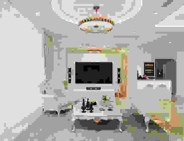Phong cách Tân Cổ Điển – Ngôi nhà thiết kế sáng tạo, truyền cảm hứng cuộc sống Phòng khách phong cách kinh điển bởi ICON INTERIOR Kinh điển