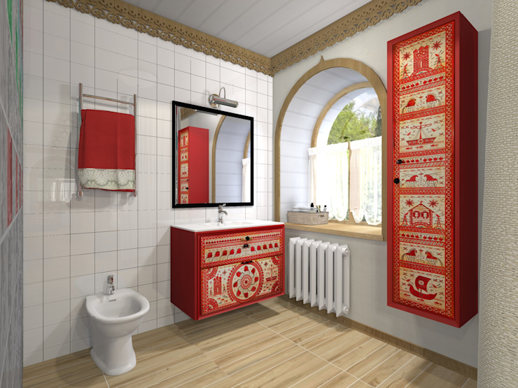 Country style bathrooms by Архитектурная студия 'Арт-Н' Country