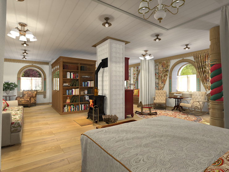 Country style bedroom by Архитектурная студия 'Арт-Н' Country