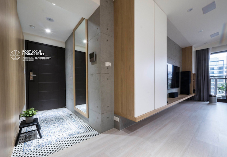 台中賴公館 斯堪的納維亞風格的走廊,走廊和樓梯 根據 築本國際設計有限公司 北歐風