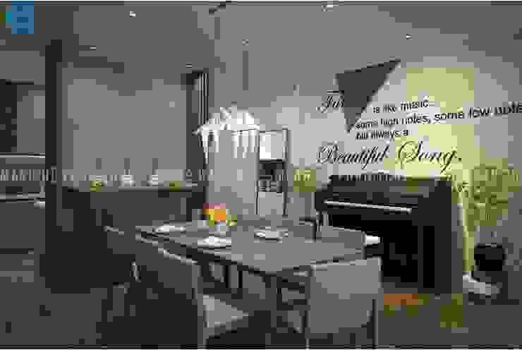 Salas de jantar modernas por Công ty TNHH Nội Thất Mạnh Hệ Moderno Alumínio/Zinco
