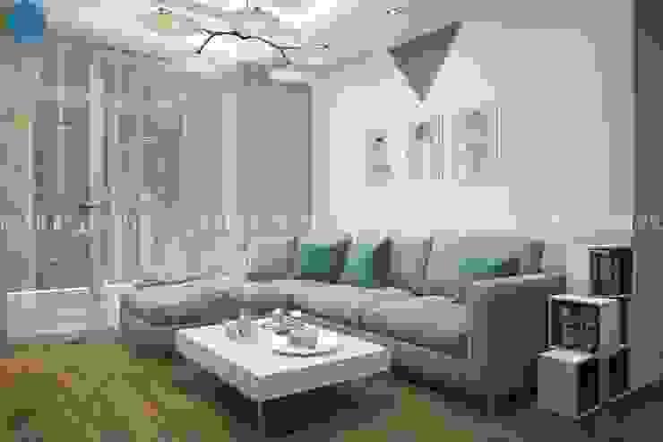 Salas de estar modernas por Công ty TNHH Nội Thất Mạnh Hệ Moderno Plástico