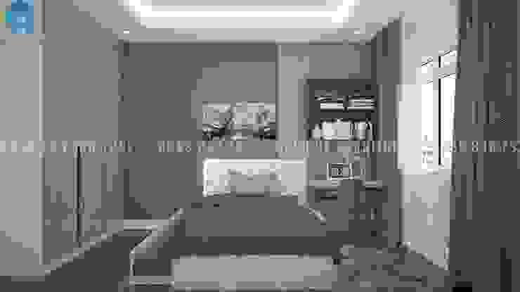 Quartos modernos por Công ty TNHH Nội Thất Mạnh Hệ Moderno Madeira maciça Multicolor