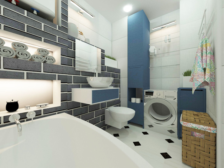 lux.Plus Eclectic style bathroom Ceramic Blue