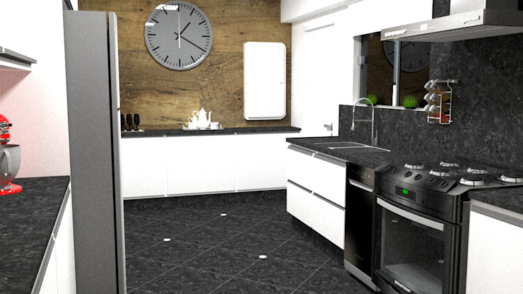 Cozinha: Armários e bancadas de cozinha  por Silvana Lima e UrbanaDI,Moderno