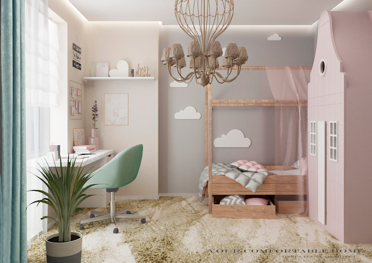 Your Comfortable home Спальня для дівчаток