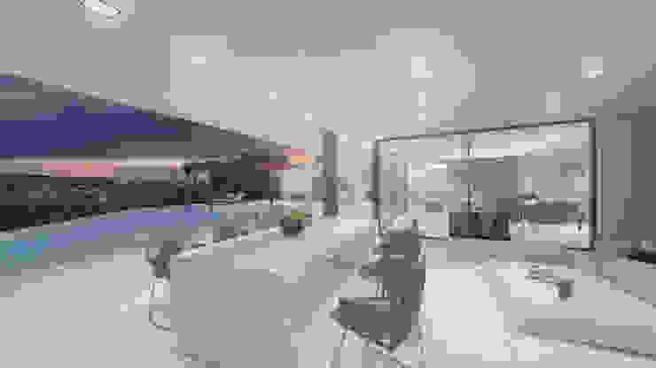 Porche Balcones y terrazas modernos: Ideas, imágenes y decoración de ARKUM Moderno