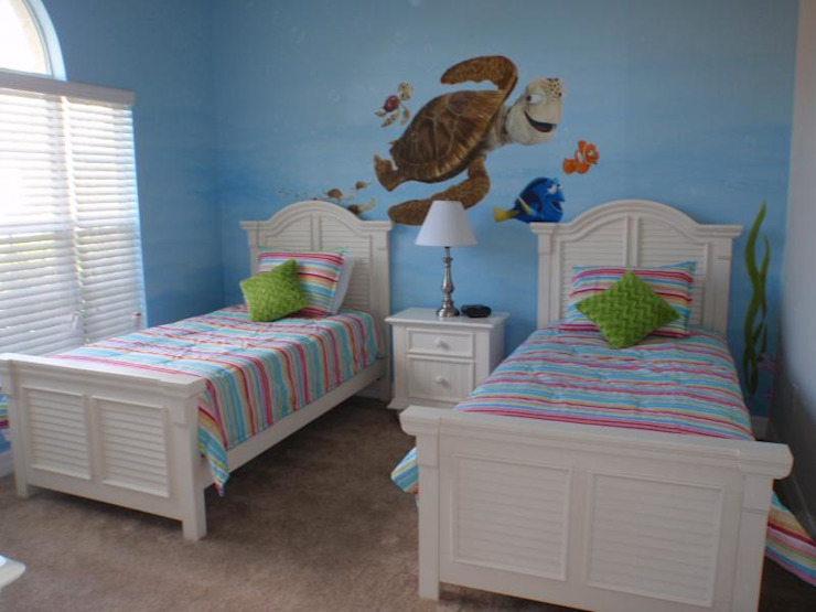 Kids room with Blue theme Modern style bedroom by decormyplace Modern Plywood
