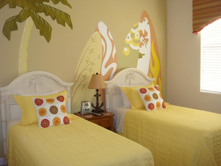 yellow green theme for kids room Modern style bedroom by decormyplace Modern Plywood
