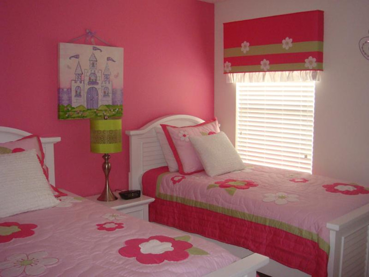 Pink Girls room Modern style bedroom by decormyplace Modern Plywood