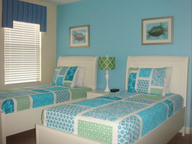 blue theme kids room Modern style bedroom by decormyplace Modern Plywood