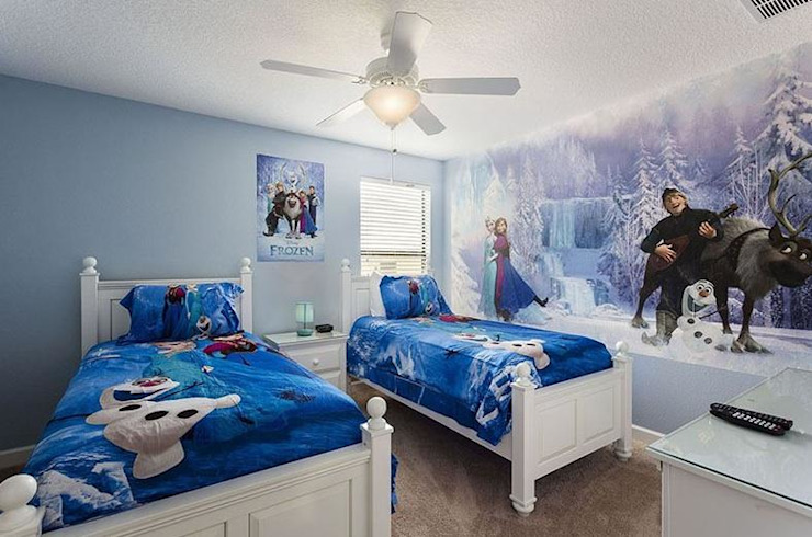 BLUE COLOUR KIDS ROOM Modern style bedroom by decormyplace Modern Plywood