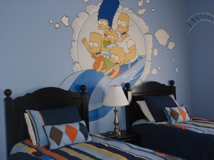 Blue kids room Modern Bedroom by decormyplace Modern Plywood