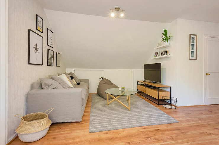 Sala de estar de Klover Escandinavo
