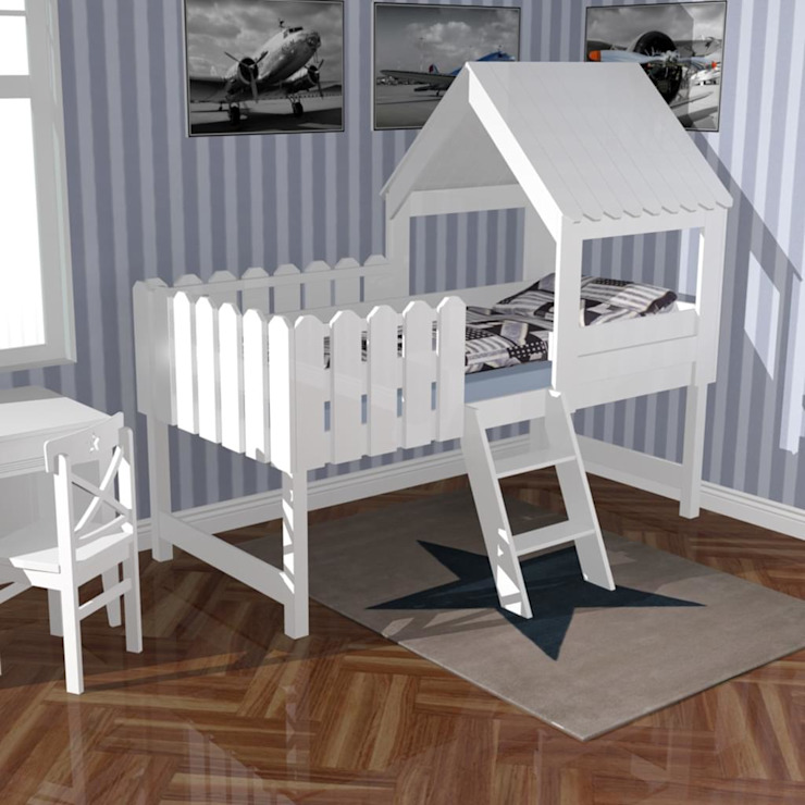 caminha Heidi Magic Nest Quarto de criançasCamas e berços Madeira maciça Branco