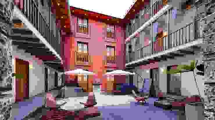 FRANCO CACERES / Arquitectos & Asociados Kolonialer Flur, Diele & Treppenhaus