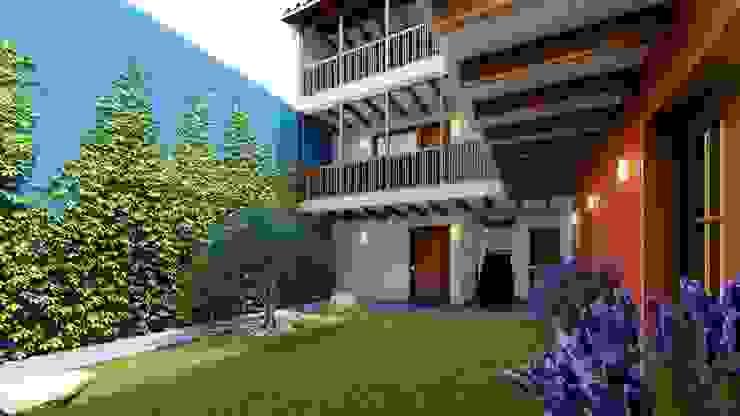 Colonial style corridor, hallway& stairs by FRANCO CACERES / Arquitectos & Asociados Colonial