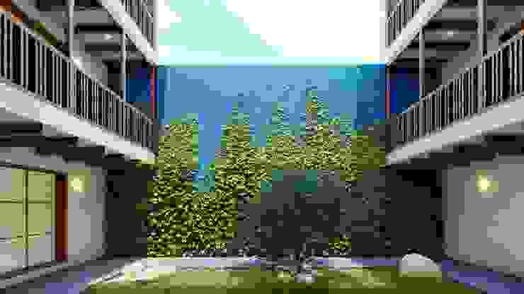 FRANCO CACERES / Arquitectos & Asociados Jardines en la fachada