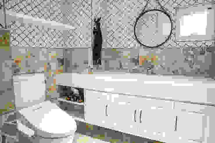 東湖陳公館:  浴室 by VH INTERIOR DESIGN,