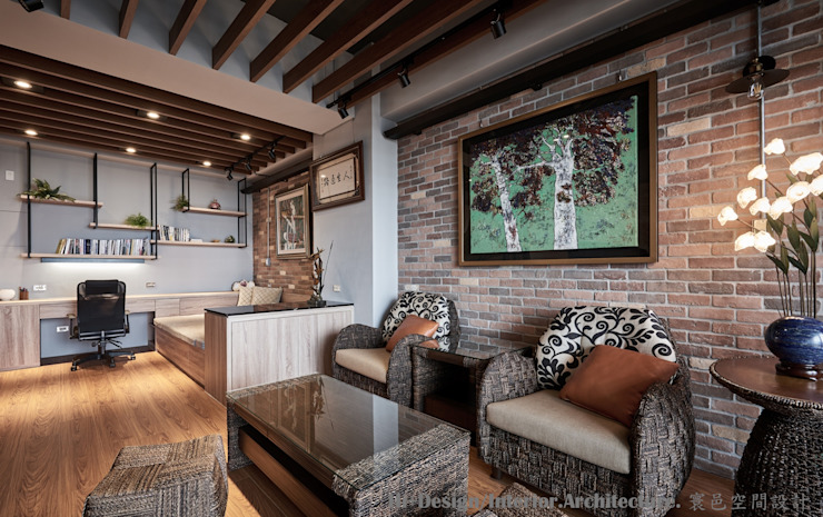 牆面 Hi+Design/Interior.Architecture. 寰邑空間設計 牆面 磚塊