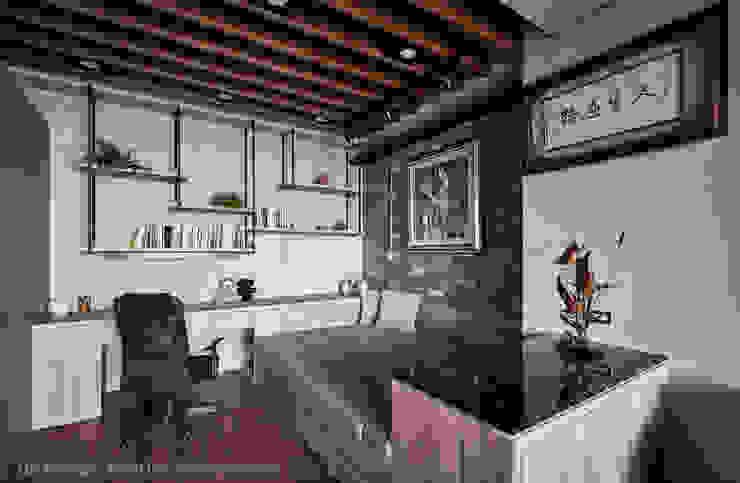 休憩區&閱讀區 Hi+Design/Interior.Architecture. 寰邑空間設計 書房/辦公室 木頭