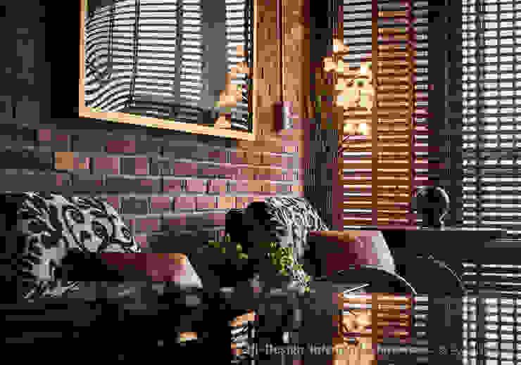 客廳一角 Hi+Design/Interior.Architecture. 寰邑空間設計 牆面 磚塊