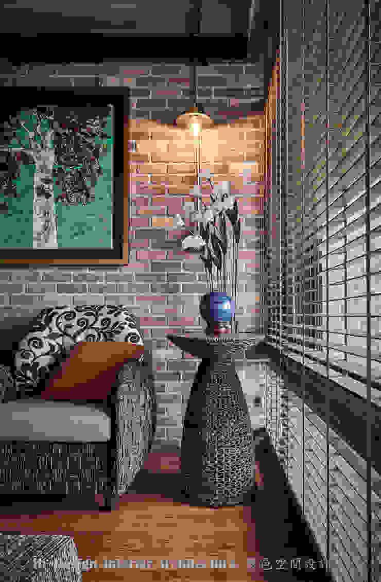 客廳一角 Hi+Design/Interior.Architecture. 寰邑空間設計 客廳配件與裝飾品 磚塊